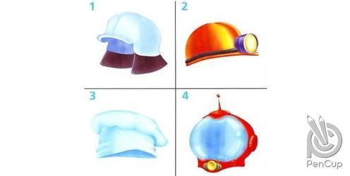 На какой картинке нарисован головной убор пожарного?